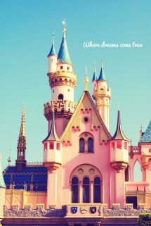 Fine Art Disneyland Castle Princess Disney Blue