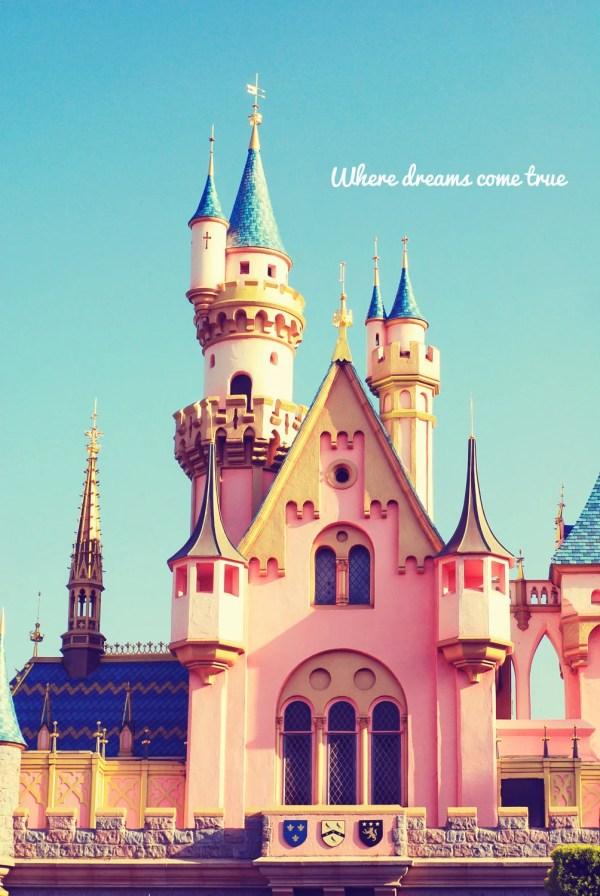 Fine Art Disneyland Castle Princess Disney Blue
