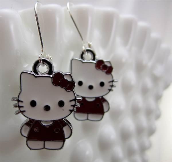 Kitty Earrings-little Girls Teens Jewelry