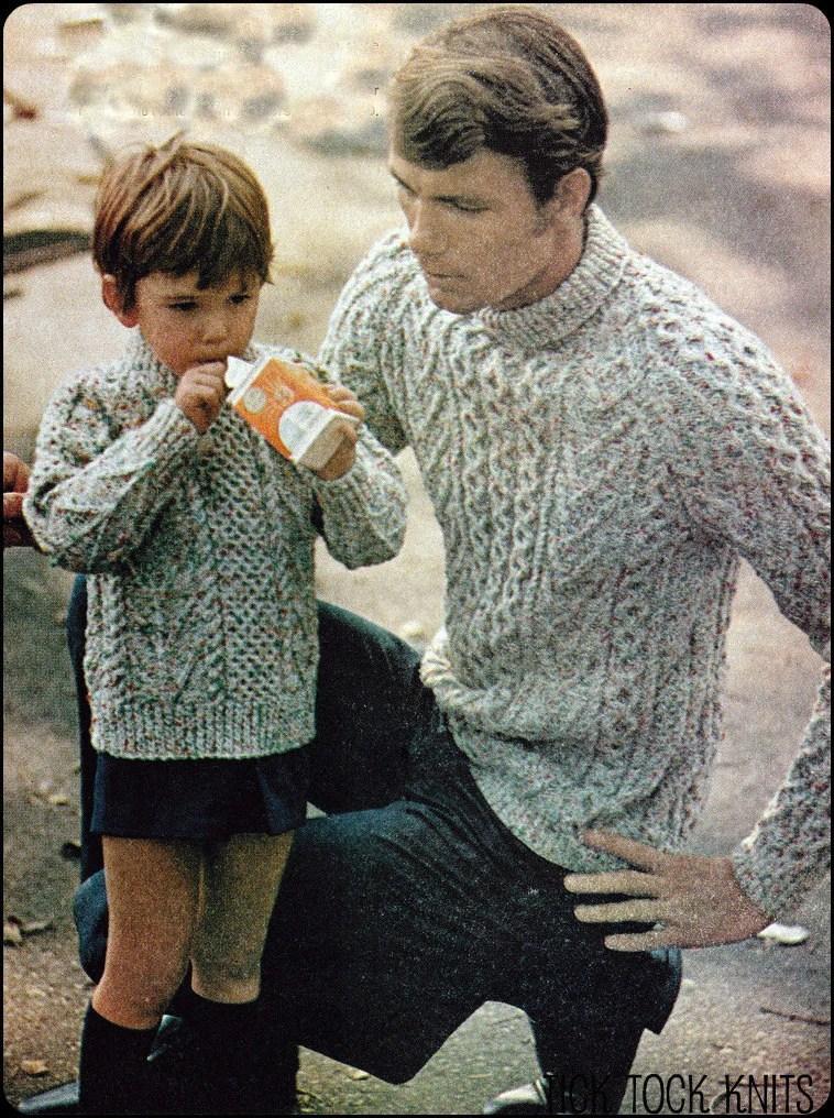 No134 PDF Vintage Knitting Pattern Father  Sons