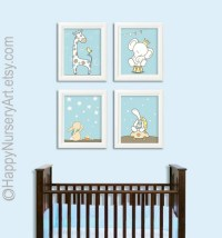 Boys nursery art Baby boy nursery art prints blue wall art