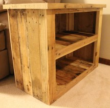 Reclaimed Pallet Wood Furniture Side Table