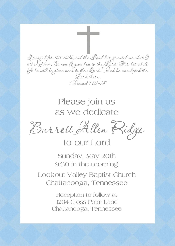 Baptism Invitations Bible Quotes