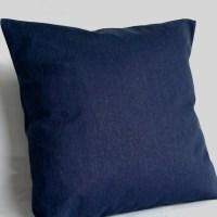 Blue Lumbar Pillow Cover 12x16 12x18 or 14x20 inch Blue