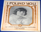 Vintage 1919 I Found You ...