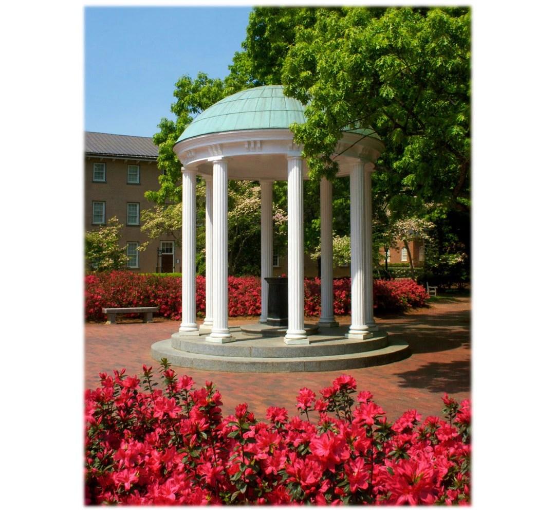 Unc Chapel Hill Old Well And Azaleas North Carolina