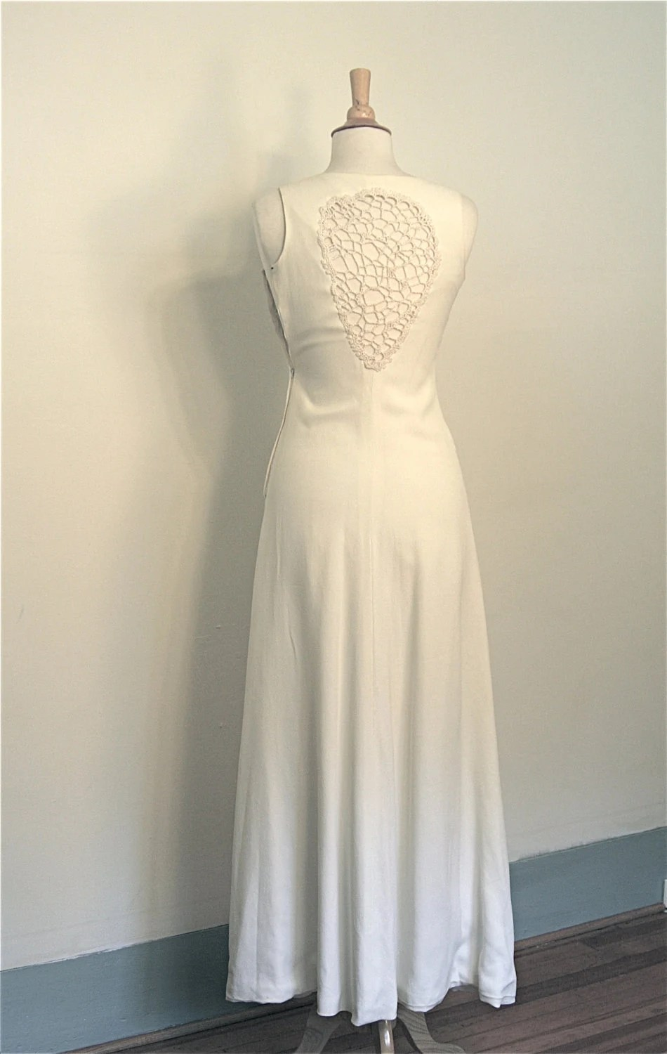 Vintage Late 60s early 70s HELGA HOWIE Designer Maxi Dress