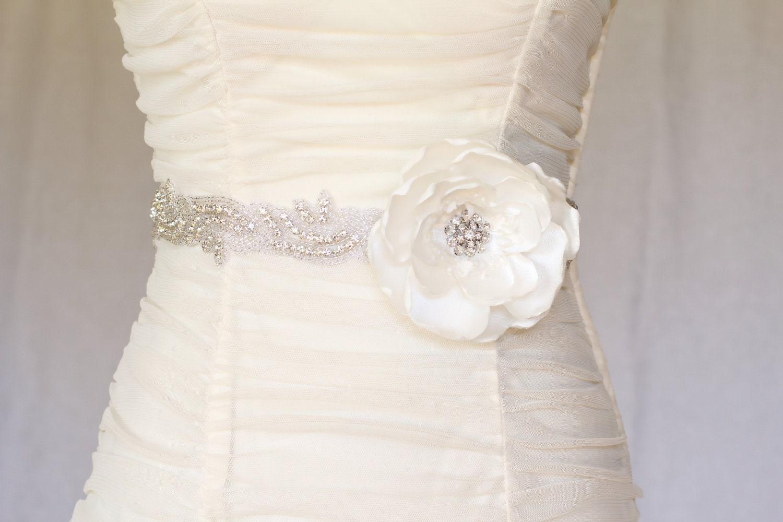 wedding chair sash accessories scooby doo abby rhinestone beaded bridal belt by