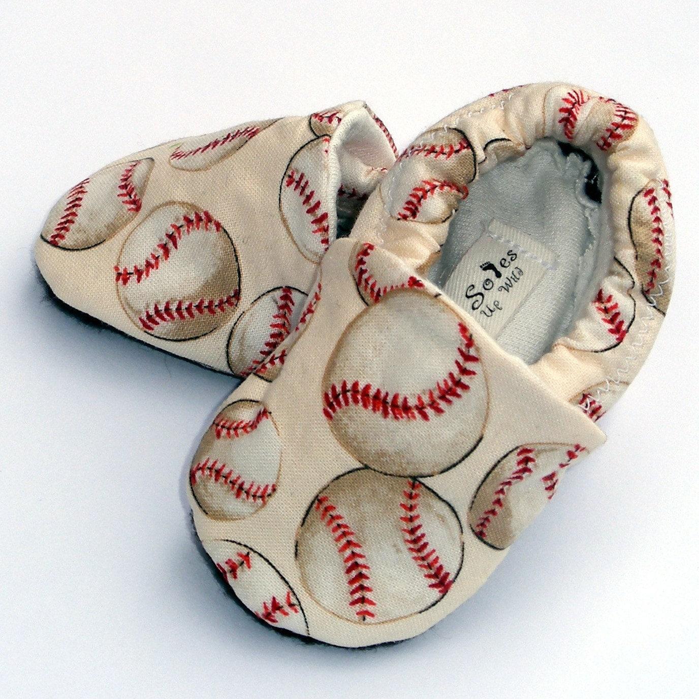 Baseball Baby Boy Or Girl Shoes Little Slugger Crib Shoes
