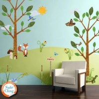 Forest Wall Decals for Nursery and Kids Room Woodland
