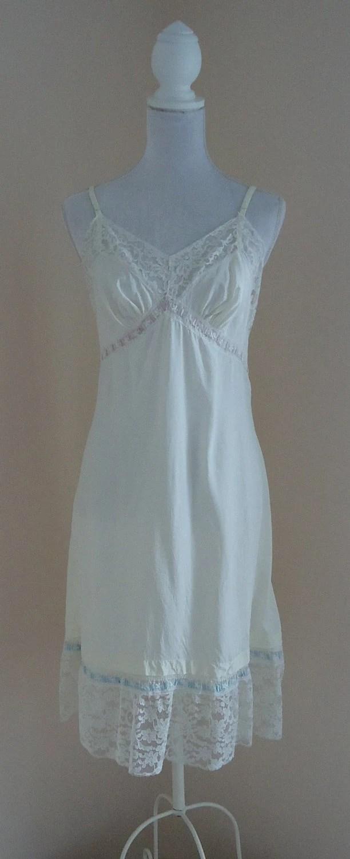 Vintage 1940s Fantasy Lingerie White Full Slip