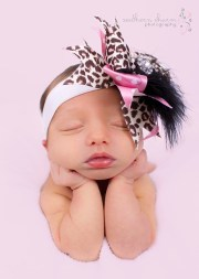 big bow headband pink cheetah
