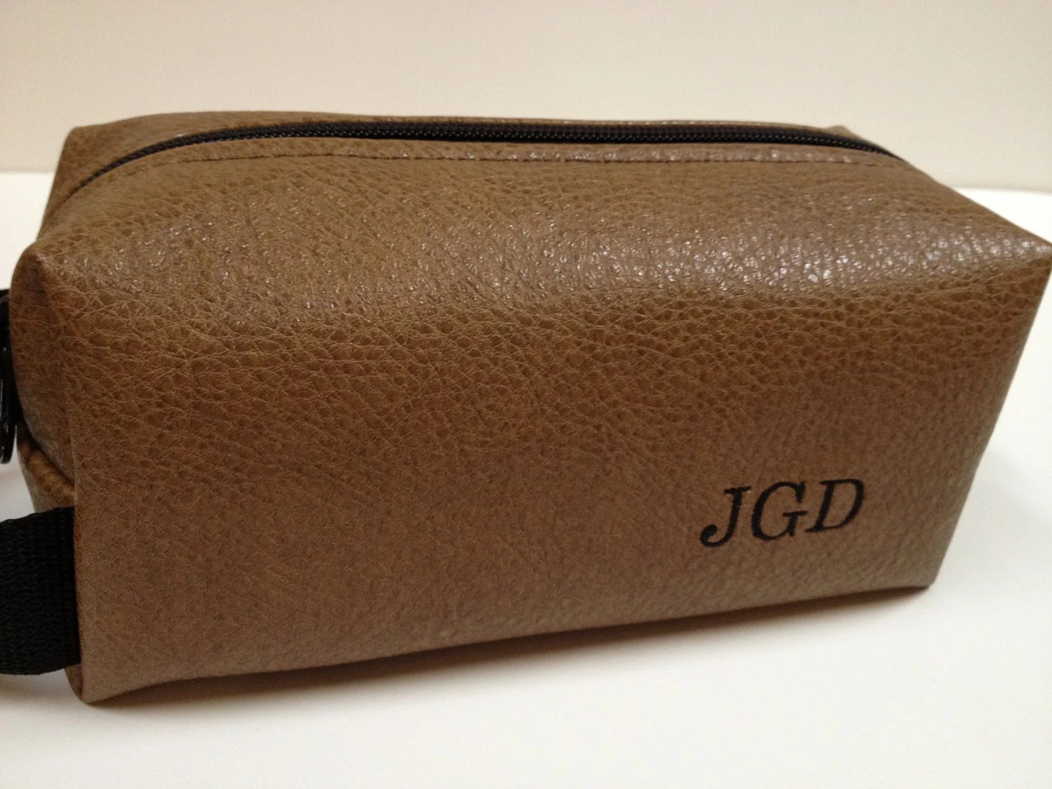 Personalized Toiletry Shaving Bag Faux Calf Groomsmen Wedding Party Gift Best Man Groomsmen