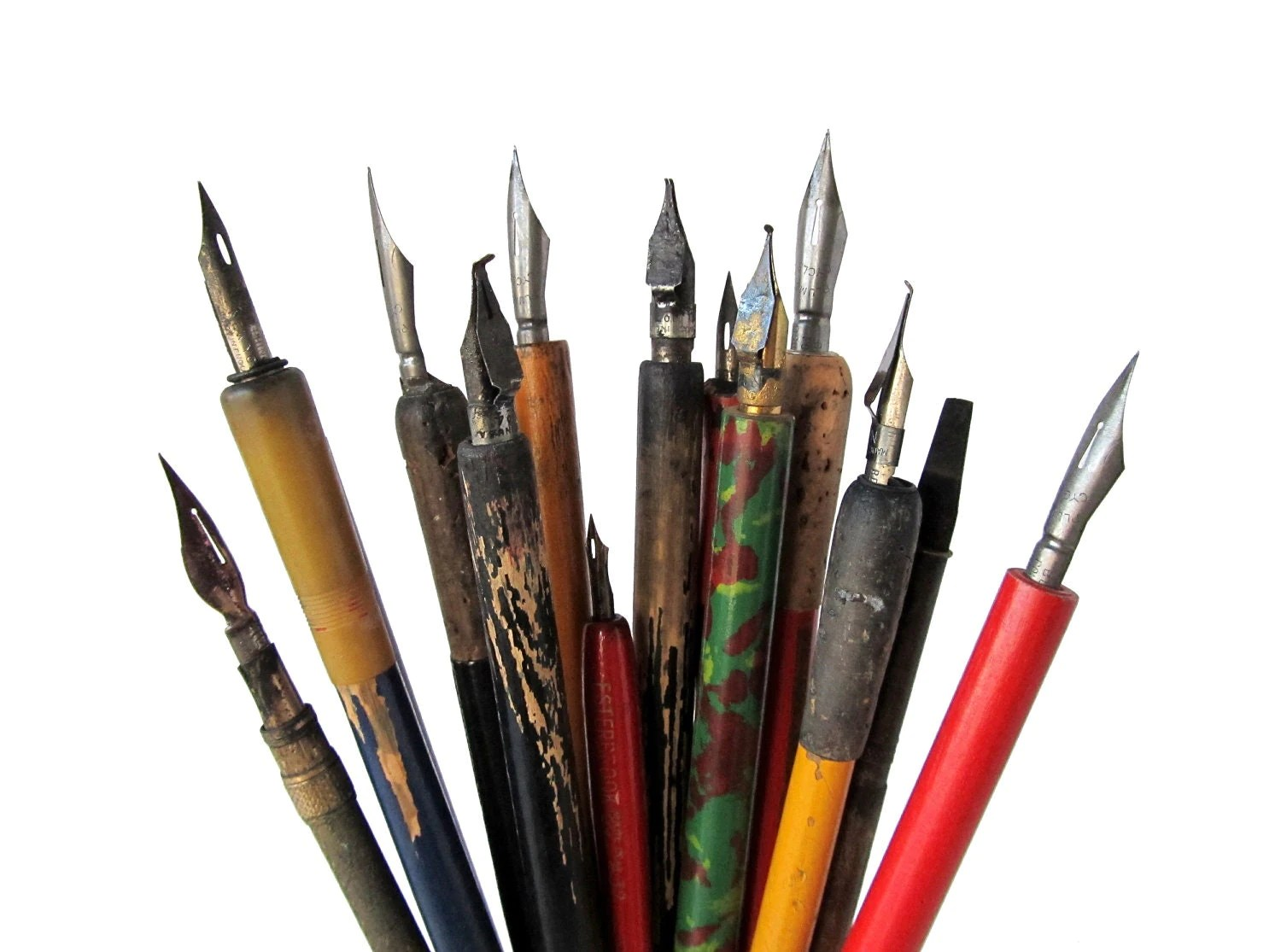 Vintage Ink Pens With Nibs Instant Collection Of Old Pens