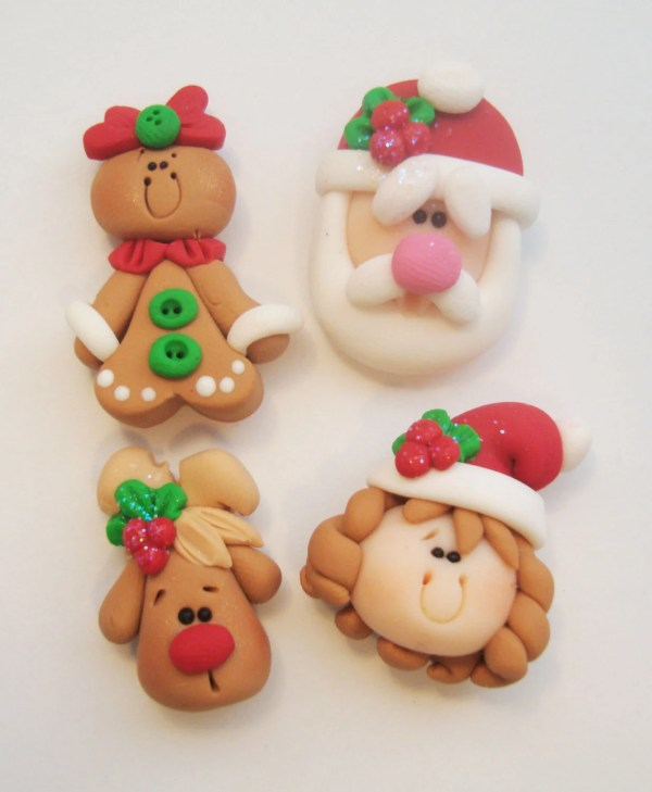Polymer Clay Christmas Charms.Polymer Clay Christmas Charms Year Of Clean Water