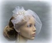 birdcage veil wedding hair accessories