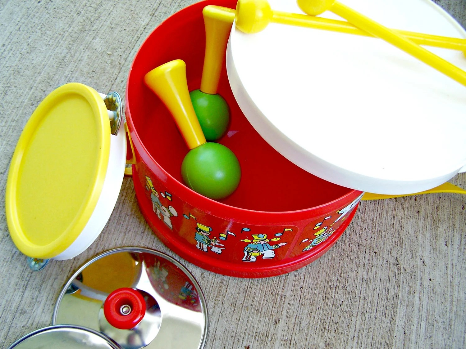 Vintage Fisher Price Drum Set Marching Band 1979 On Sale