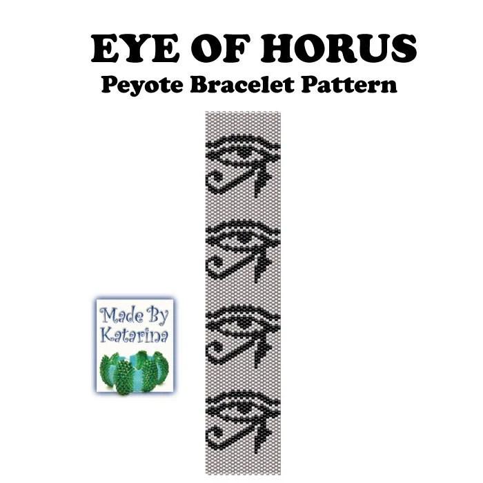 Peyote Pattern Eye of Horus INSTANT DOWNLOAD PDF Peyote