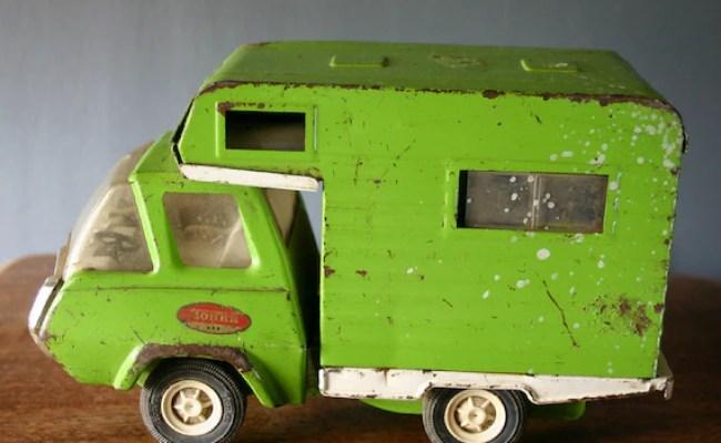 Vintage Metal Tonka Camper Toy Retro Green By Gasserbyjason