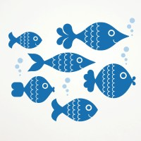 Ocean Big Fish Wall Decal Stickers Kids by graphicspaces ...