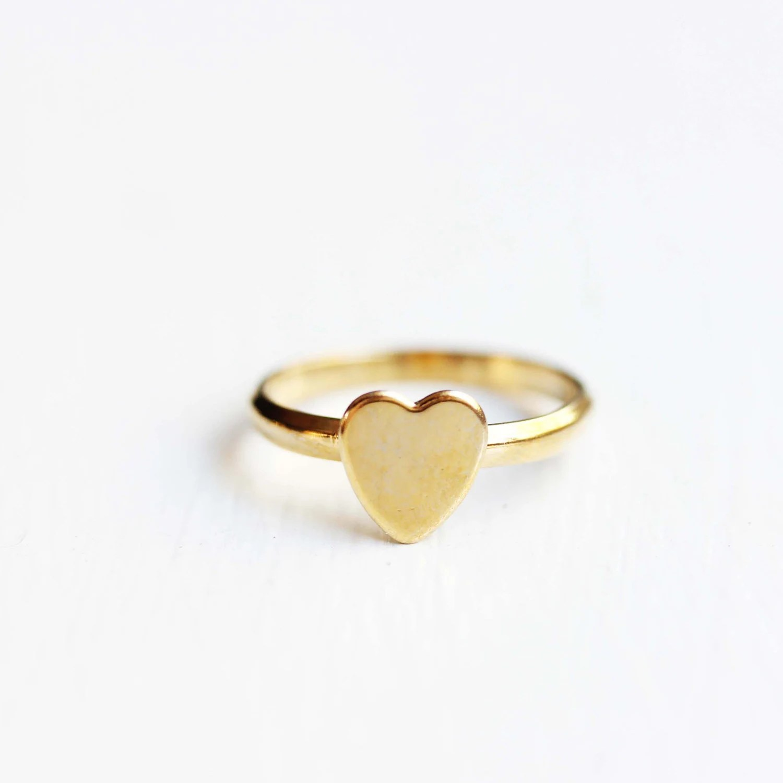 Heart Ring Gold Gold Heart Ring Adjustable Heart Ring Heart