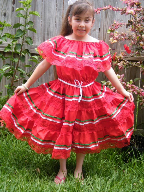 Mexican Fiesta Dress 9 10 Yrs Raquells27