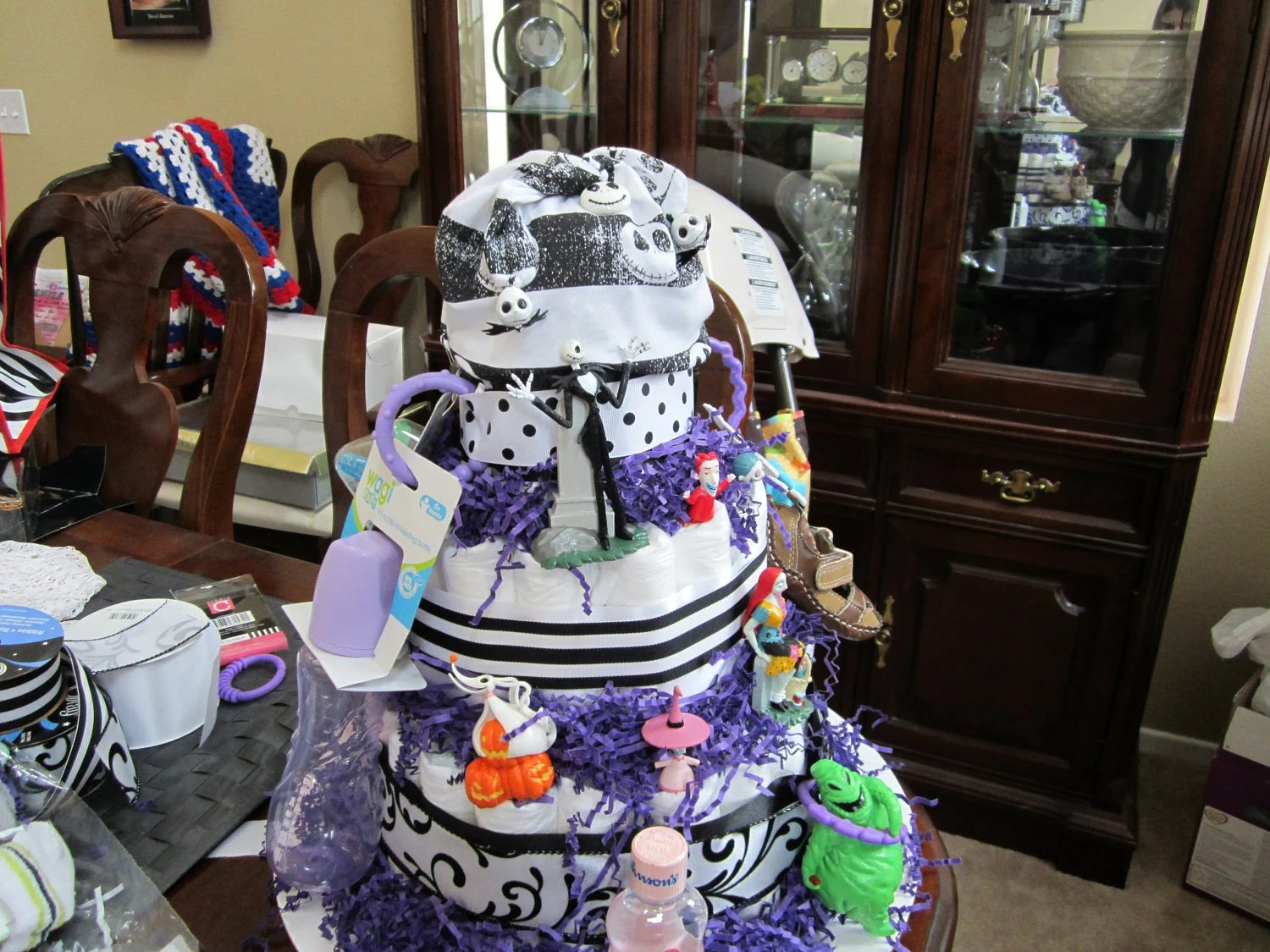 Items Similar To Nightmare Before Christmas Diaper Cake On