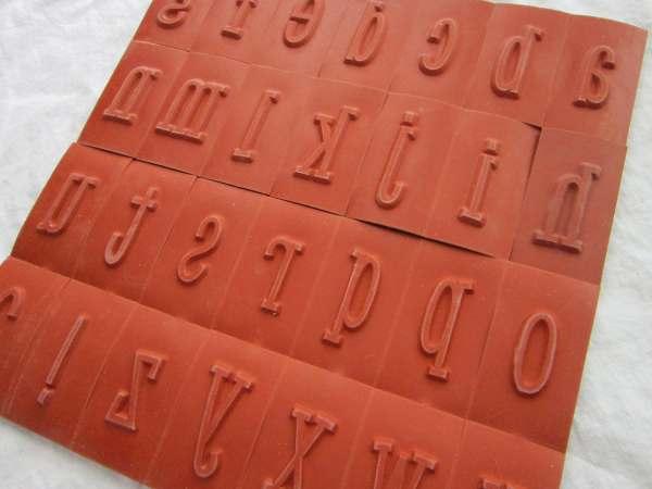 Rubber Stamp Alphabet Unmounted Cushion Large