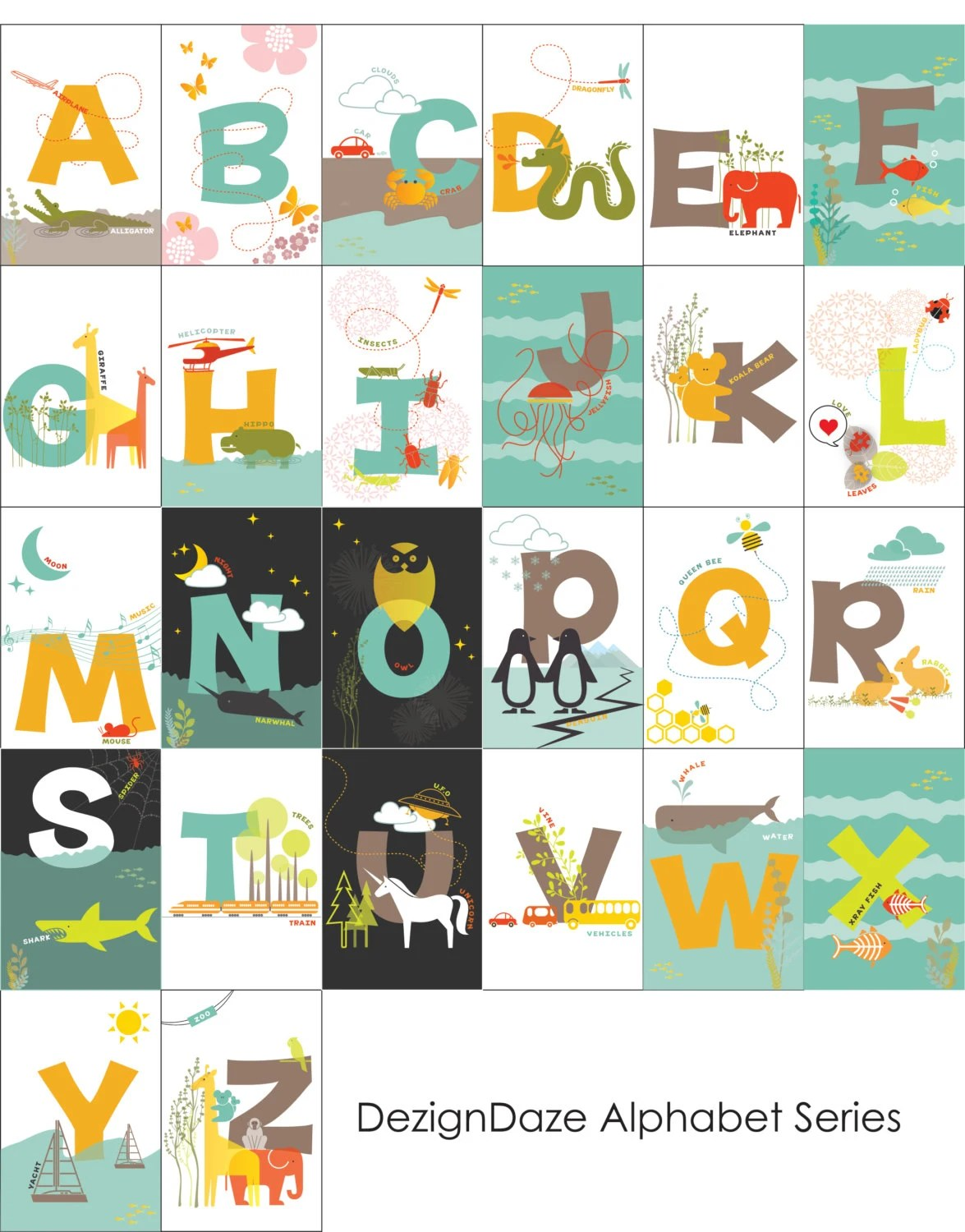 Printable Abc Alphabet Flash Cards All 26 Alphabets By Dezigndaze