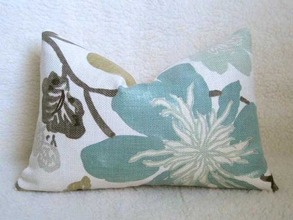 Kravet Jellybean Designer Pillow Aqua Brown By WillaSkyeHome