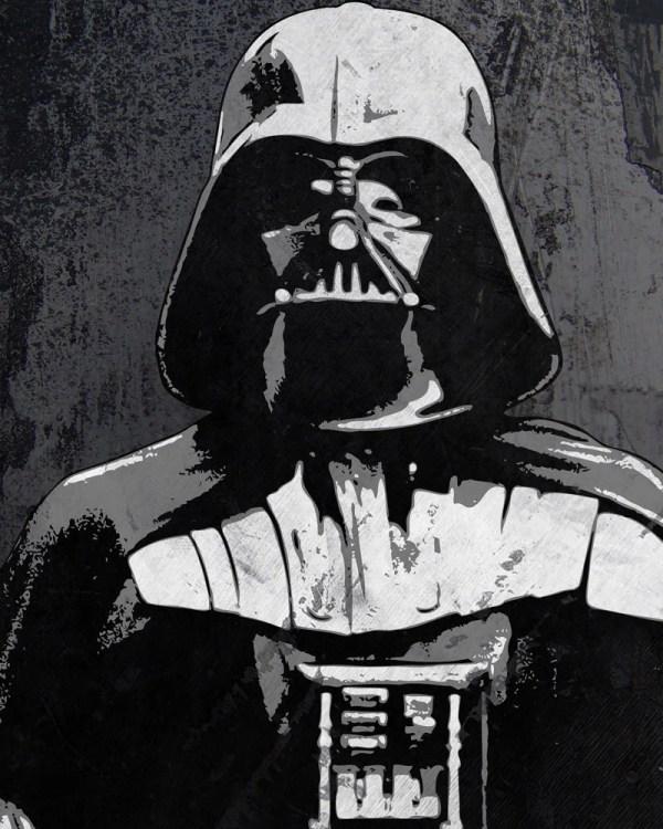 Darth Vader Star Wars Pop Art Print 8 X 10