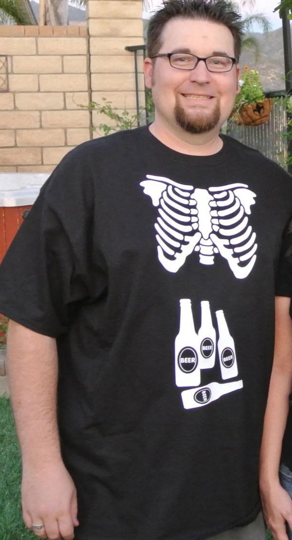 Skeleton Xray Mens Shirt Match Baby Maternity