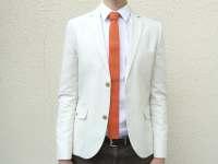 Mens Orange Knit Tie