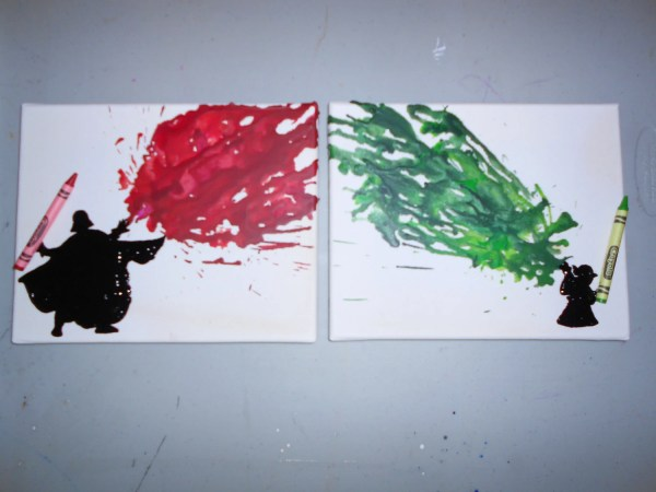 Star Wars Inspired Melted Crayon Art Paintings Onceuponacrayon