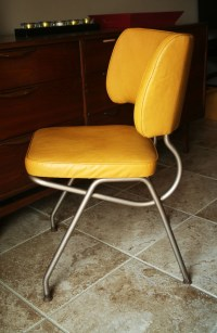 Retro Yellow Vinyl Kitchen / Desk Chair by Brody by ...