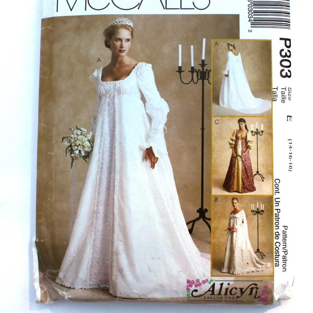 Renaissance Bridal Gown Sewing Pattern Princess Dress