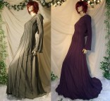 Druid Dress With Sleeves Long Black
