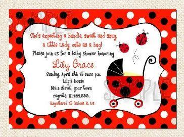ladybug photo invitations