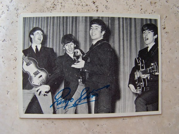 Vintage Beatles Trading Card 1960s Ringo Star Cynthiasattic