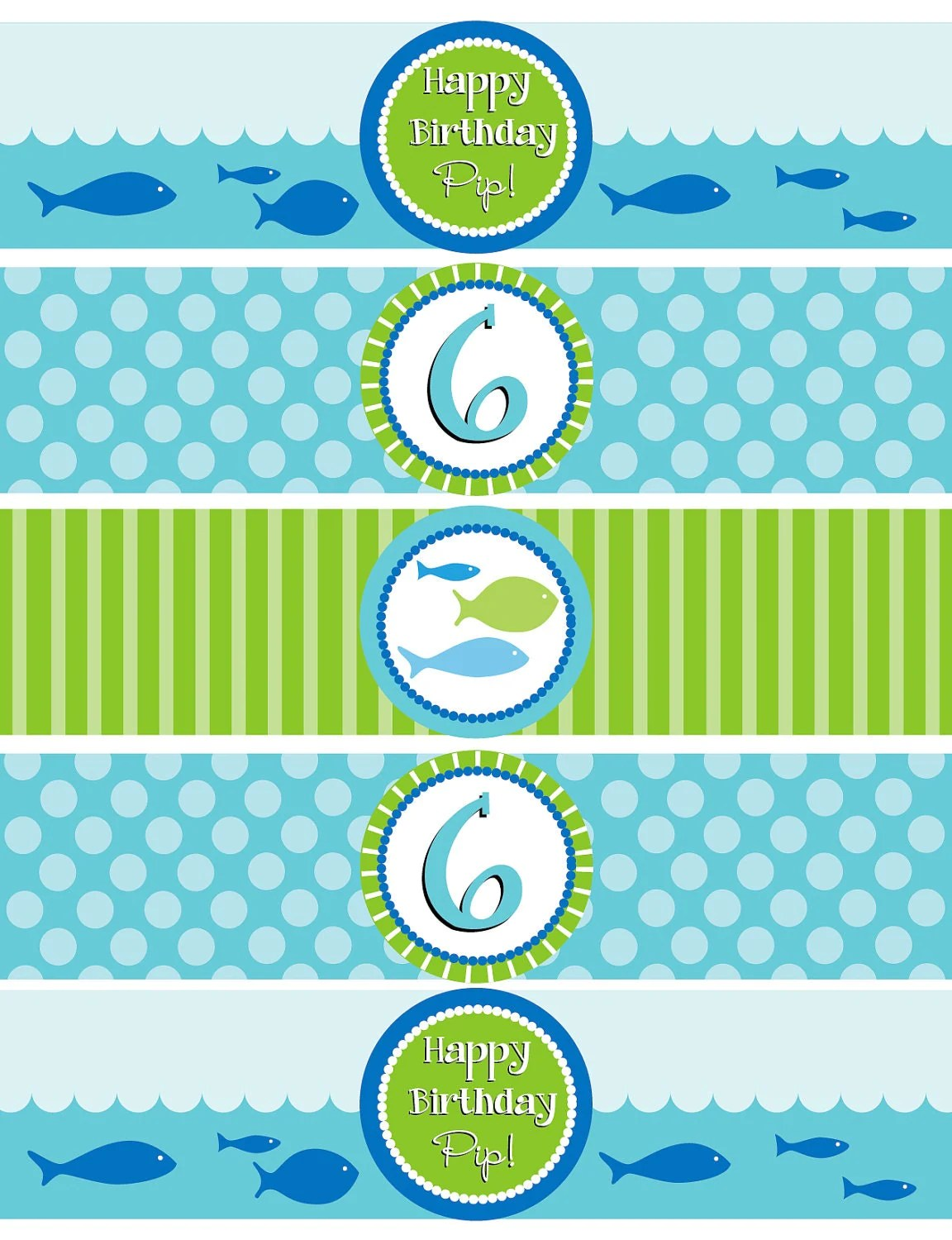 Diy Printable Fish Water Bottle Labels By Laurenhaddoxdesign