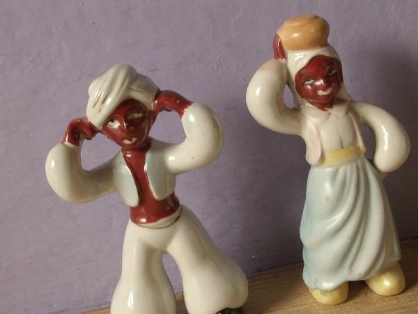 Antique 1950' Blackamoor Figurines Occupied Shoponsherman