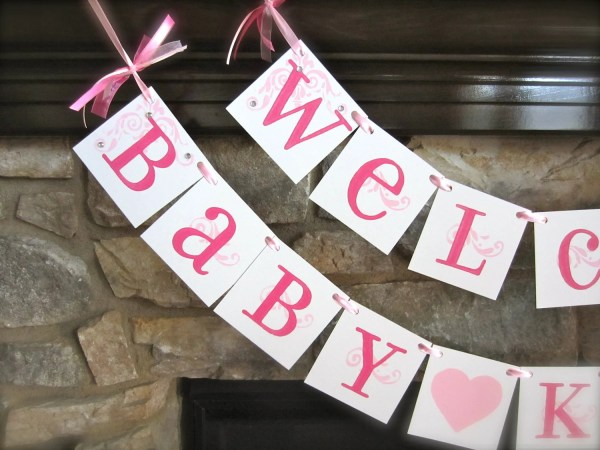 Baby Shower Welcome Banner