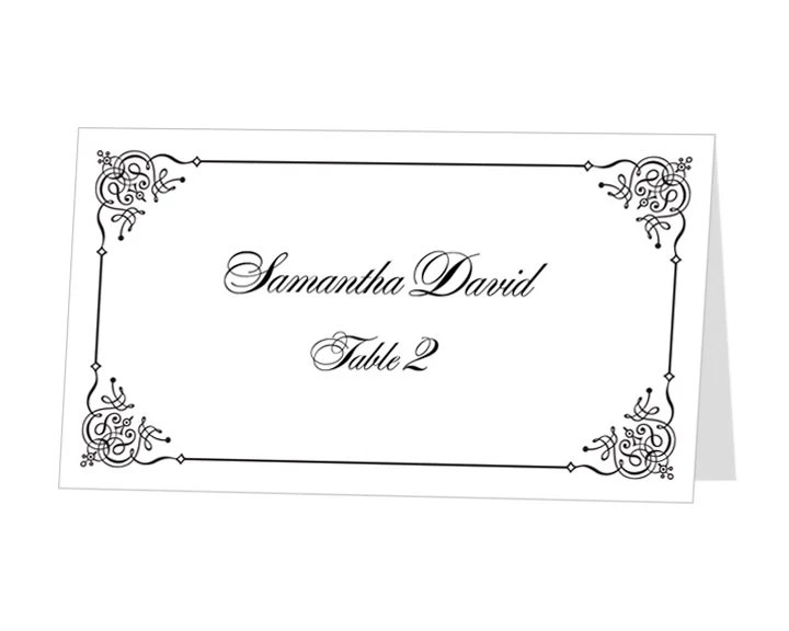 INSTANT DOWNLOAD Print at Home Place Cards Template by 43Lucy