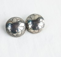 Vintage Concho Earrings Sterling Silver by AdobeHouseVintage