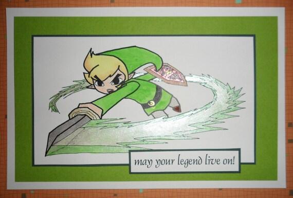 Link Card Blank Or Birthday Legend Of Zelda