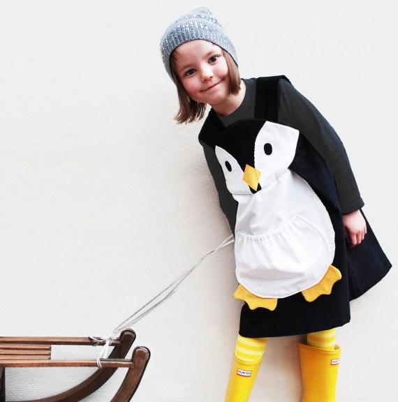 Girls penguin play dress - wildthingsdresses