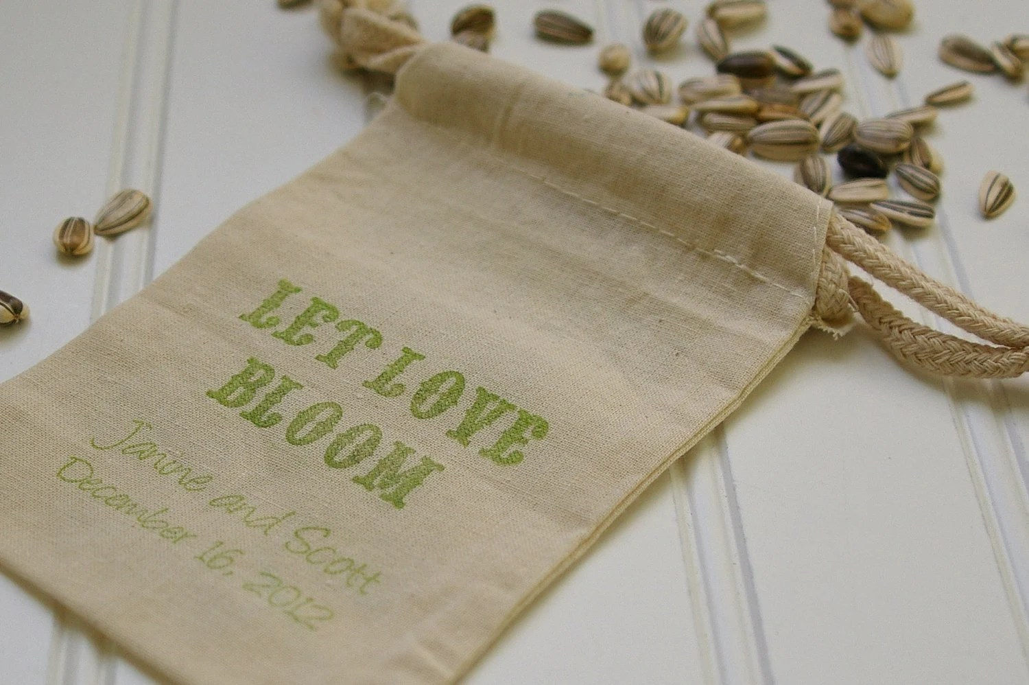 Personalized Flower Seed Wedding Favor Bags Set Of 150 Bags
