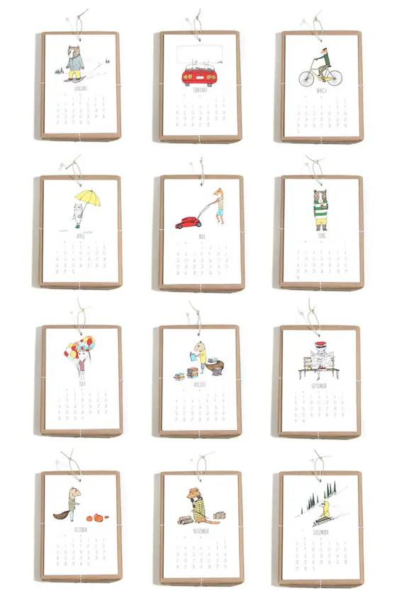 2013 Calendar - Jaunty Animals