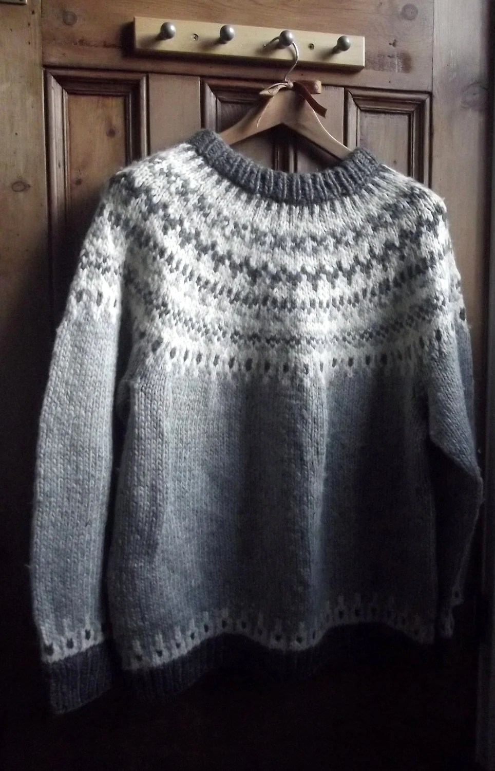 womens mens Nordic icelandic sweater jumper by DollyTopsyVintage