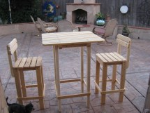 Diy Plans Make Bar Table And Stool Set Wingstoshop